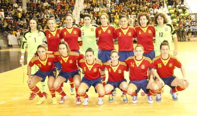 Fútbol sala femenino España-Brasil /