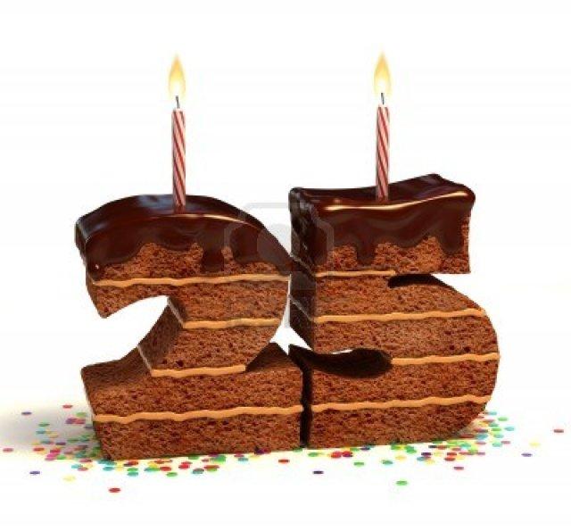 12330648-pastel-de-chocolate-de-cumpleanos-rodeado-de-confeti-con-la-vela-encendida-para-un-cumpleanos-25to-a